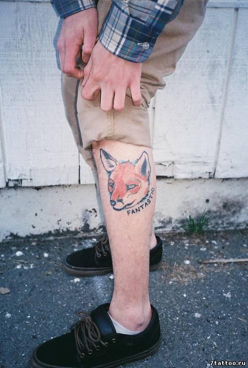 Фото тату на ноге парня